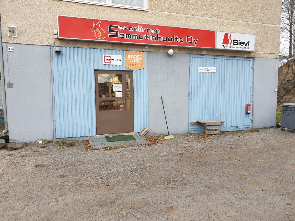 Savonlinnan Sammutinhuolto Oy liike ulkopuolelta